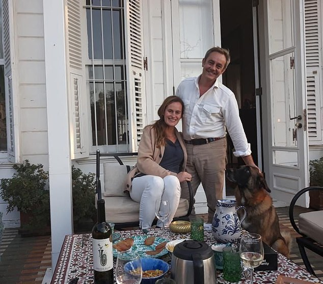 Emma Winberg and husband James Le Mesurier (pictured together) in Istanbul