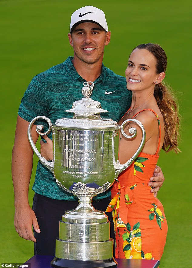 Happy couple:After more than five years together, Professional Golf Association (PGA) tour golfer Brooks Koepka is tying the knot with actress Jena Sims