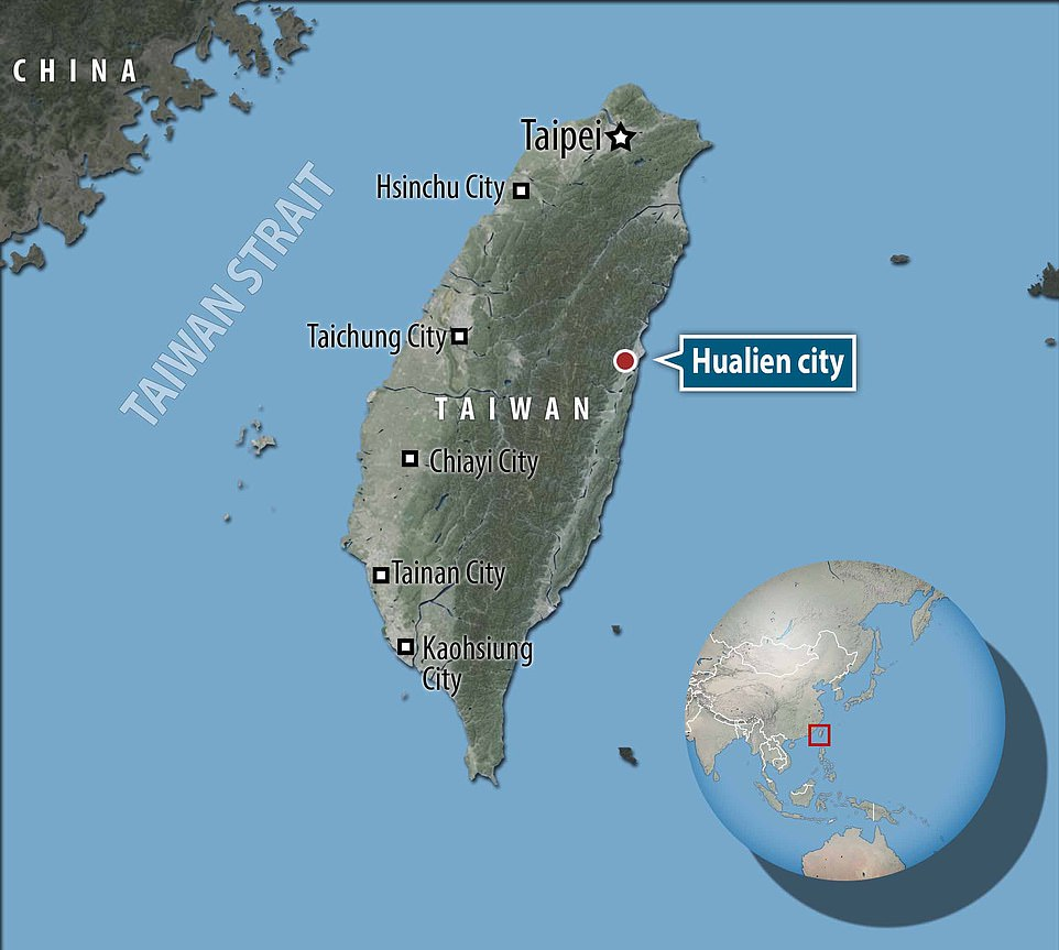 The eight-car train was travelling from Taipei to the southeastern city of Taitung when it crashed in the tunnel outside the city of Hualien