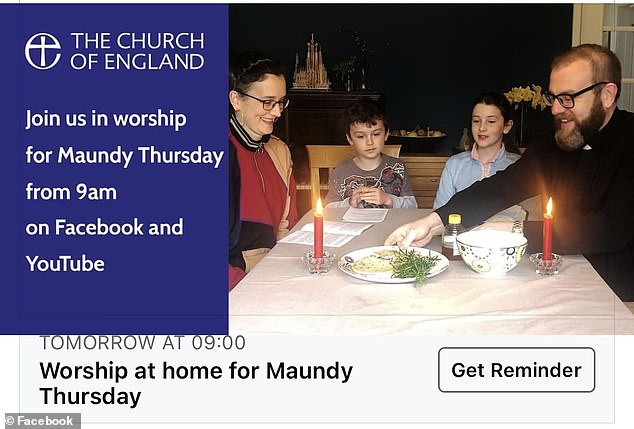 The Church of England's guidance was issued on how to celebrate Maundy Thursday – which marks the beginning of the three-day celebration of Easter – at home amid the coronavirus pandemic