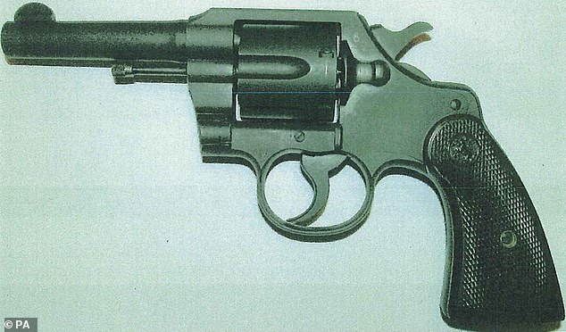 A Second World War Commando Colt .38 calibre revolver of the type police say was used in the murders of William and Patricia Wycherley