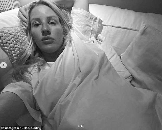 Natural glow: Pregnant Ellie Goulding updated her fans with a candid post shared to her Instagram account on Thursday