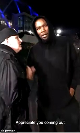 Durant (right) and Rapaport (left) pictured during friendlier times