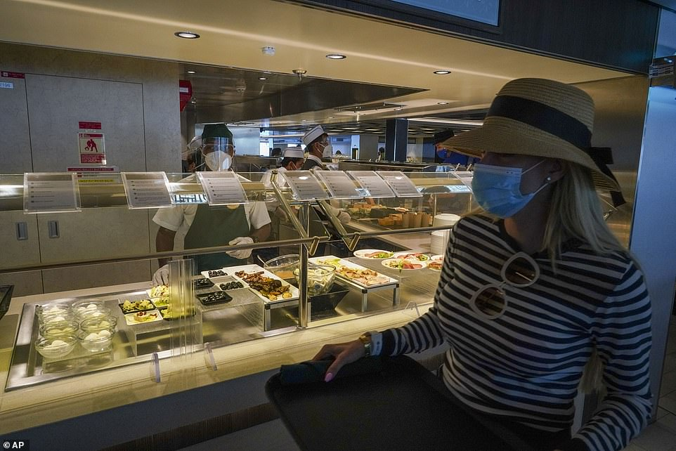 Passengers aboard the Grandiosa have been able to enjoy mask-free meals aboard the ship because of a self-styled 'health bubble' aboard the ship