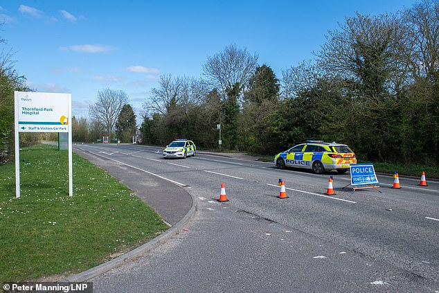 Road closures were in place while the Thames Valley police investigators examined the scene