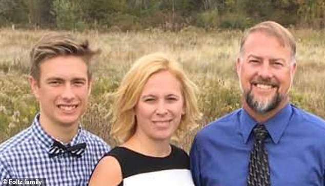 Foltz's distraught parents Cory and Shari are calling for individual members to be charged over their son's death