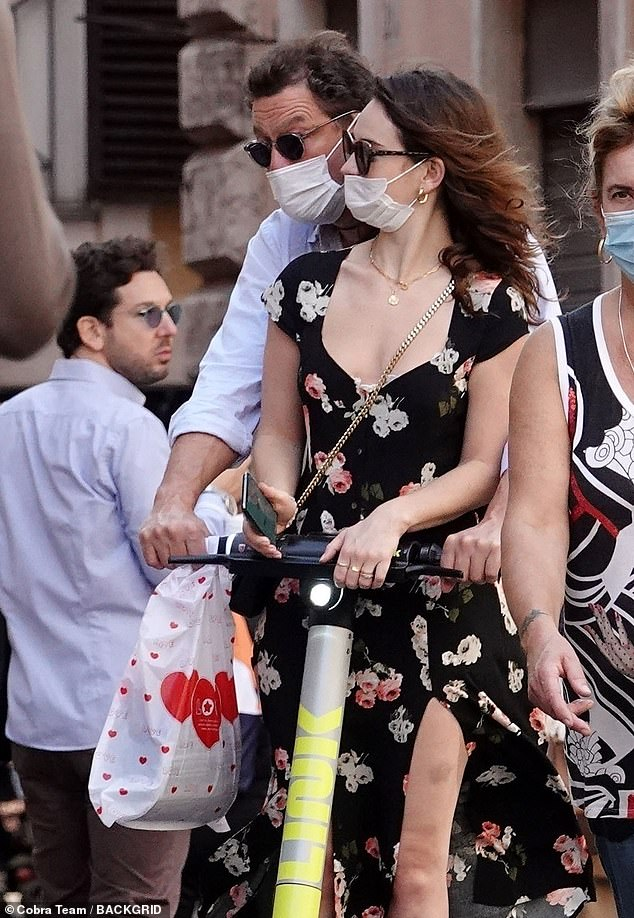 Scandal:The star has kept a low-profile since she became the subject of scrutiny when images emerged showing her and Dominic West getting cosy during a scooter ride in Rome