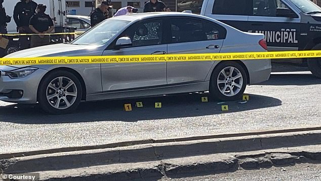 The lawyer's vehicle was shot at several times before was forced out of car and kidnapped
