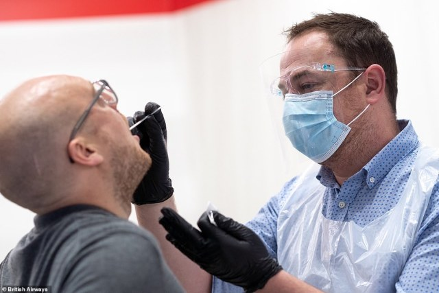 The pre-departure test before boarding a UK-bound flight could even apply to fully vaccinated travellers