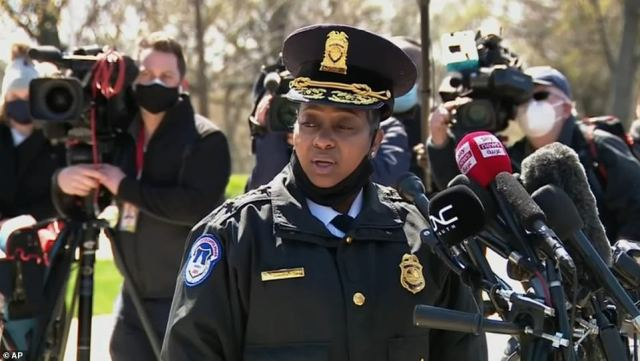 Acting Capitol Police Chief Yogananda Pittman said at a press conference on Friday that it had been a 'tough' year for the force