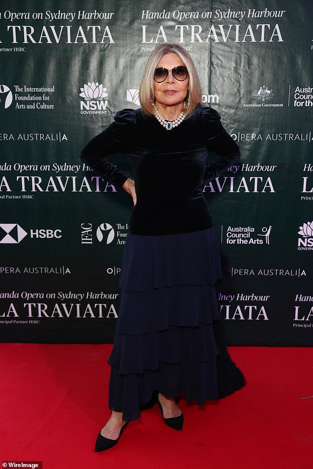 Farewell: Carla, who was 78, passed away after falling down the stairs while attending the opening night of the La Traviata opera on Sydney Harbour last week (pictured)