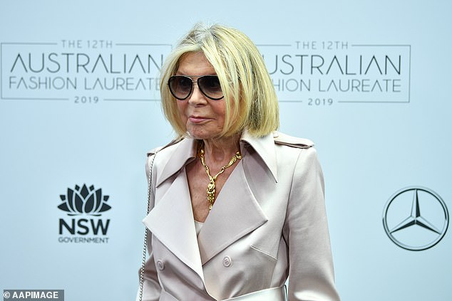 'She will be dearly missed, but never forgotten. And will live on forever in my heart, & my wardrobe. Vale Carla,' Sam wrote. Carla is pictured in 2019 at a fashion event in Sydney