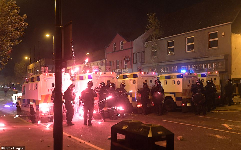 The behaviour, which followed four successive nights of disturbances in the unionist Waterside area of Londonderry, was branded 'appalling' by the city's District Commander Chief Superintendent Simon Walls
