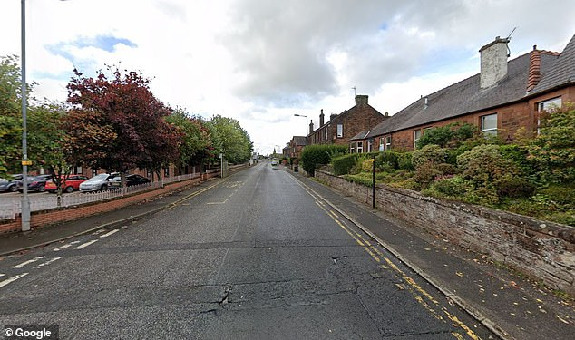 The two-year-old boy was struck by a Honda Civic in Charnwood Place (pictured) at around 6.50pm on Friday