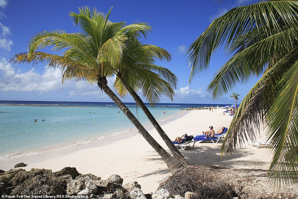 Travel industry leaders have warned failure to reopen for the summer would put more than a million jobs at risk and could stall the post-pandemic recovery. Pictured:Barbados
