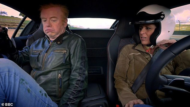 Saying goodbye: Sabine's final Top Gear appearance was in episode five of the 28th season, and despite her illness, she still flew to London to attend the series' Leicester Square premiere in January 2020