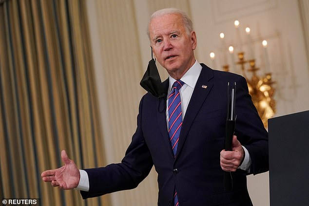 Change: According to the Sydney Morning Herald, the family 'felt the cold winds of political change' when Joe Biden (pictured) assumed power over Donald Trump, after the family-owned Fox News appeared to favour the Republican Party throughout the election campaign