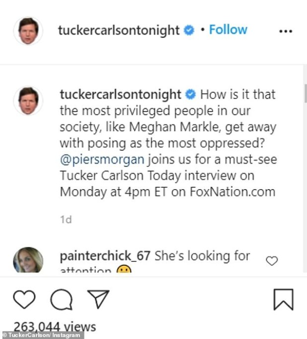 'First TV Interview' - Host Tucker, 51, also confirmed the news on social media by sharing an exclusive clip from the interview.
