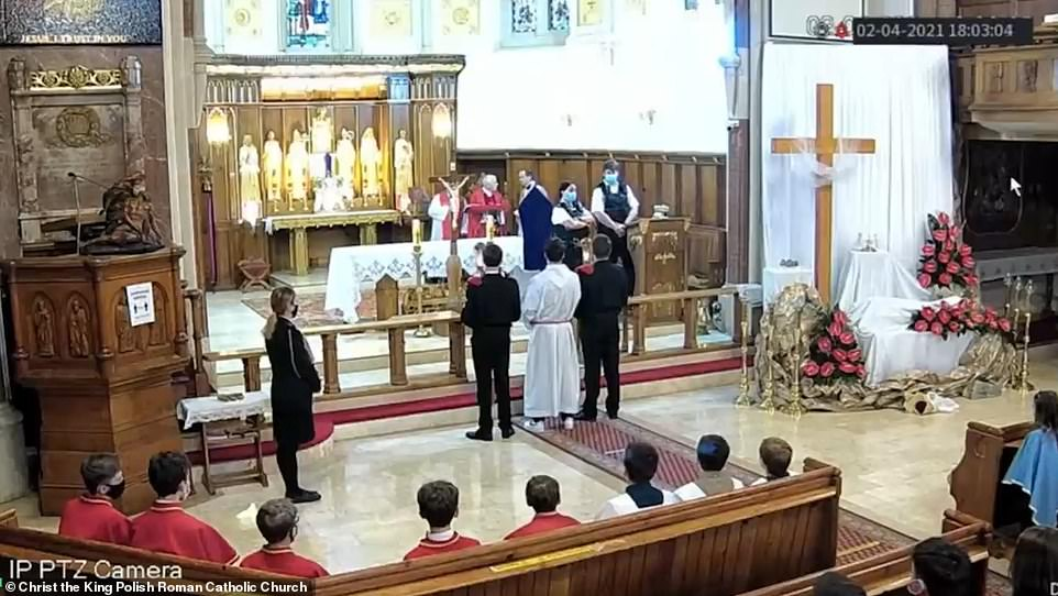 Police shut down a Good Friday service at a Polish church in Balham High Street, south London, at around 5pm yesterday, with officers threatening worshippers with £200 fines