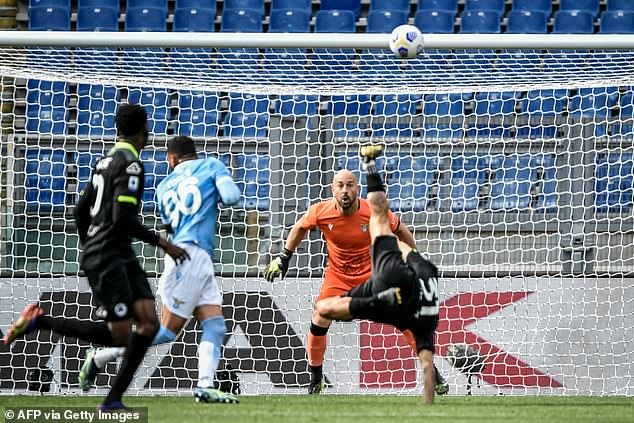His shot cannoned in off the crossbar and there was nothing Pepe Reina could do about it