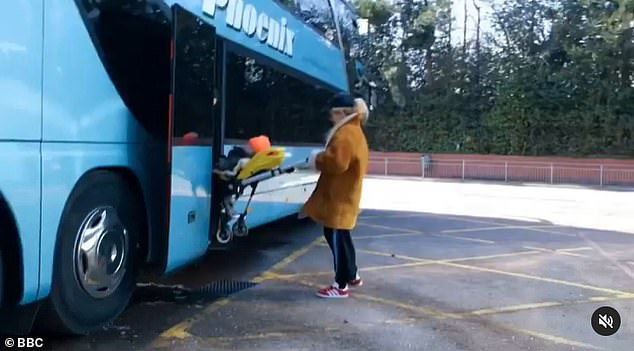 Baby on board! In a short clip shared to her social media, the pop star shows a snippet of her life on the tour as she is seen pushing her child's pushchair onto the tour bus
