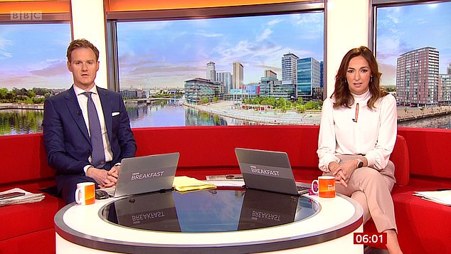 Evidence has now emerged that the £260,000-a-year BBC presenter Dan Walker (pictured left with co-presenter Sally Nugent on BBC breakfast) does, in fact, regularly use licence fee-funded taxis, after denying the claims as fake news