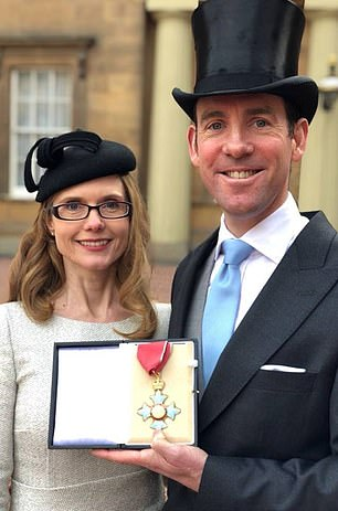 Australian financier Lex Greensill was allegedly granted a security pass and team of civil servants during Mr Cameron's time in Downing Street so he could promote a financial product he specialised in across Whitehall. Pictured receiving his CBE at Buckingham Palace in 2017