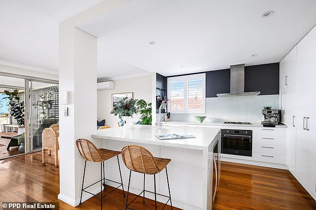 Spacious: It comes with a Caesarstone kitchen with breakfast island