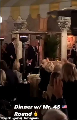 Donald Trump has been spotted at Mar-a-Lago with wife Melania and son Barron in one of the family's first appearances all together since he left office