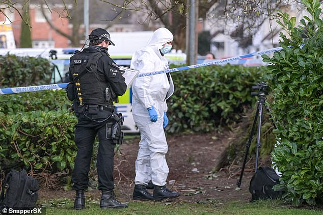 Armed police swooped on the street yesterday in Wolverhampton, West Midlands, cordoning off the area with an air ambulance also called