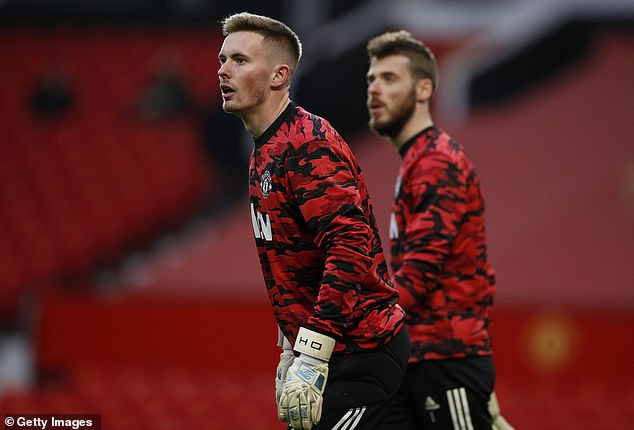 Henderson was picked over David de Gea (right), suggesting the latter's time at United is over