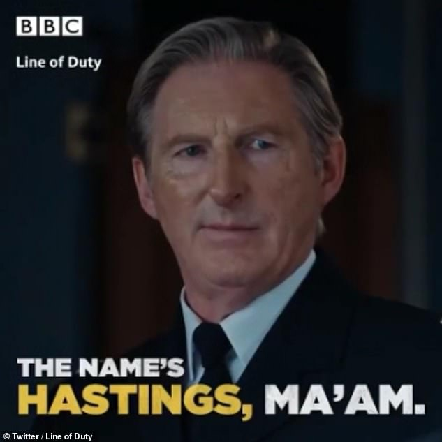 'The name's Hastings, ma'am': Line of Duty fans applauded Ted Hastings for his latest sensational one-liner after he hit back at DCC Andrea Wise
