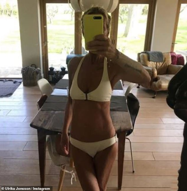 Wow;Ulrika's words come after she showcased her slender figure on Thursday as she stripped down to her white bikini for a sultry mirror selfie