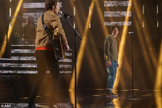 Emotional:Luke called watching Wyatt an 'emotional' experience because it made him realize that this season of Idol was clicking 'on all cylinders' and Wyatt was 'so right in your moment, right now. I can't tell you anything to do different. Be you'