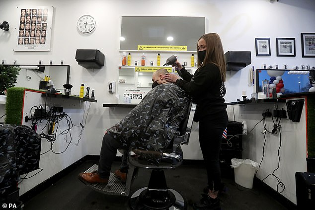 Visits to hairdressers and barbers must be pre-booked in advance and customers flocked to get their long-awaited cuts as early as 6am across the country
