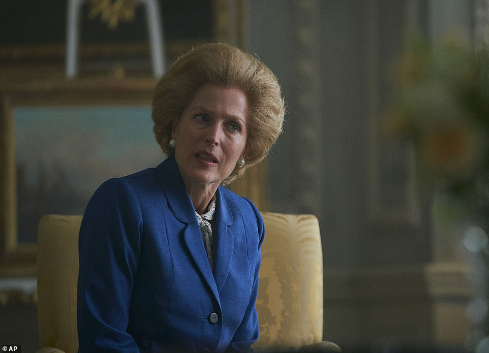 The Iron Lady: The actress joined the cast of The Crown in series four as Margaret Thatcher (pictured)