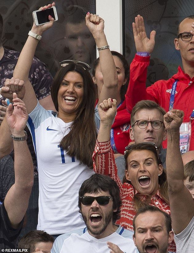 Happier times: The snaps come as Collen was recently said to fear that she may be forced to accept defeat in her 'War of the Wags' legal battle with Rebekah Vardy , 39 (pictured in 2016)