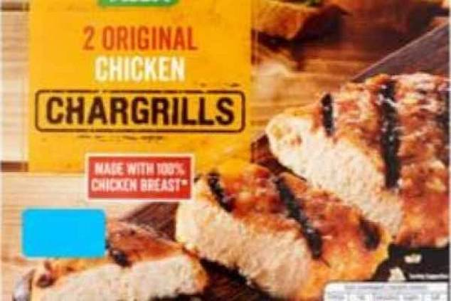 Asda recalled their own brand Original Chicken Chargrills two pack (pictured) after they were found to contain salmonella