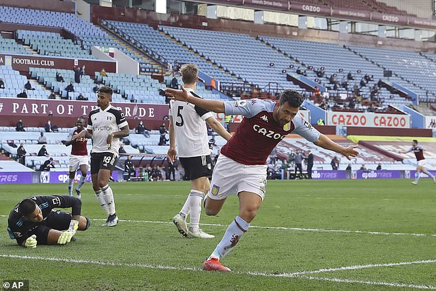 Trezeguet scored twice late on to help Aston Villa come from behind and defeat Fulham 3-1