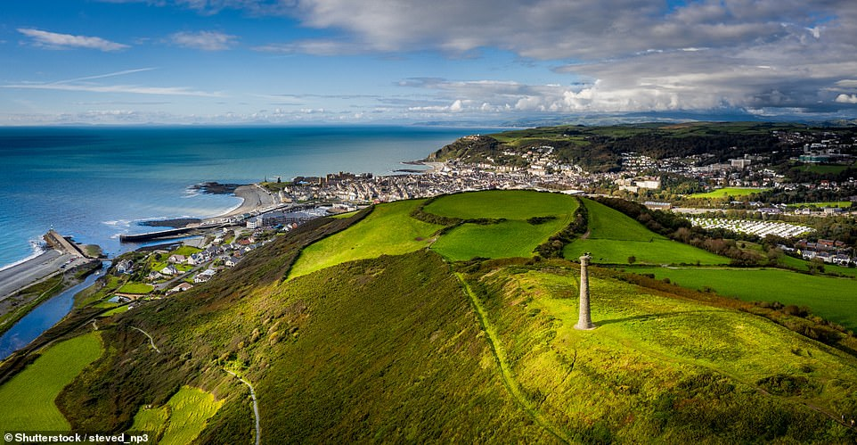 The Welsh county of Ceredigion has rolling hills, secluded beaches and fine coastal towns. Pictured is the town ofAberystwyth