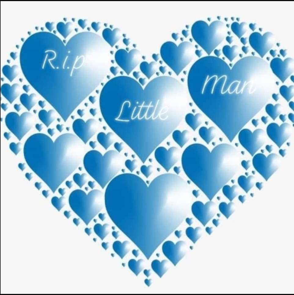 Many of their Facebook friends changed their profile pictures to a blue heart picture with the message 'RIP little man'