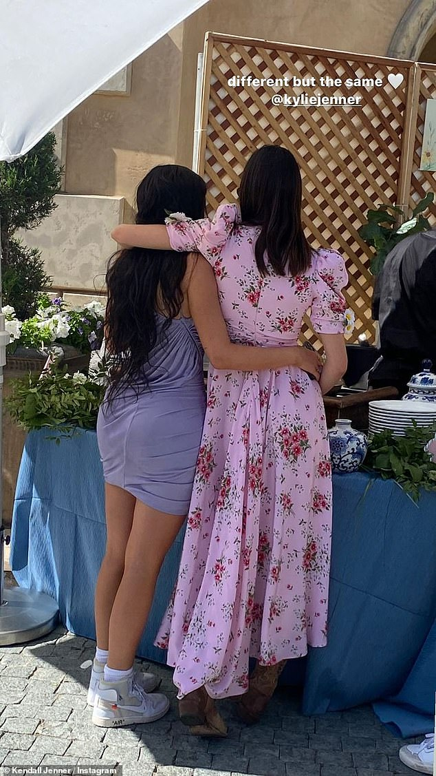 Two of a kind: The pair looked close-as-can-be in snaps from Easter weekend, pictured with their arms wrapped around each other in one sweet Instagram story post