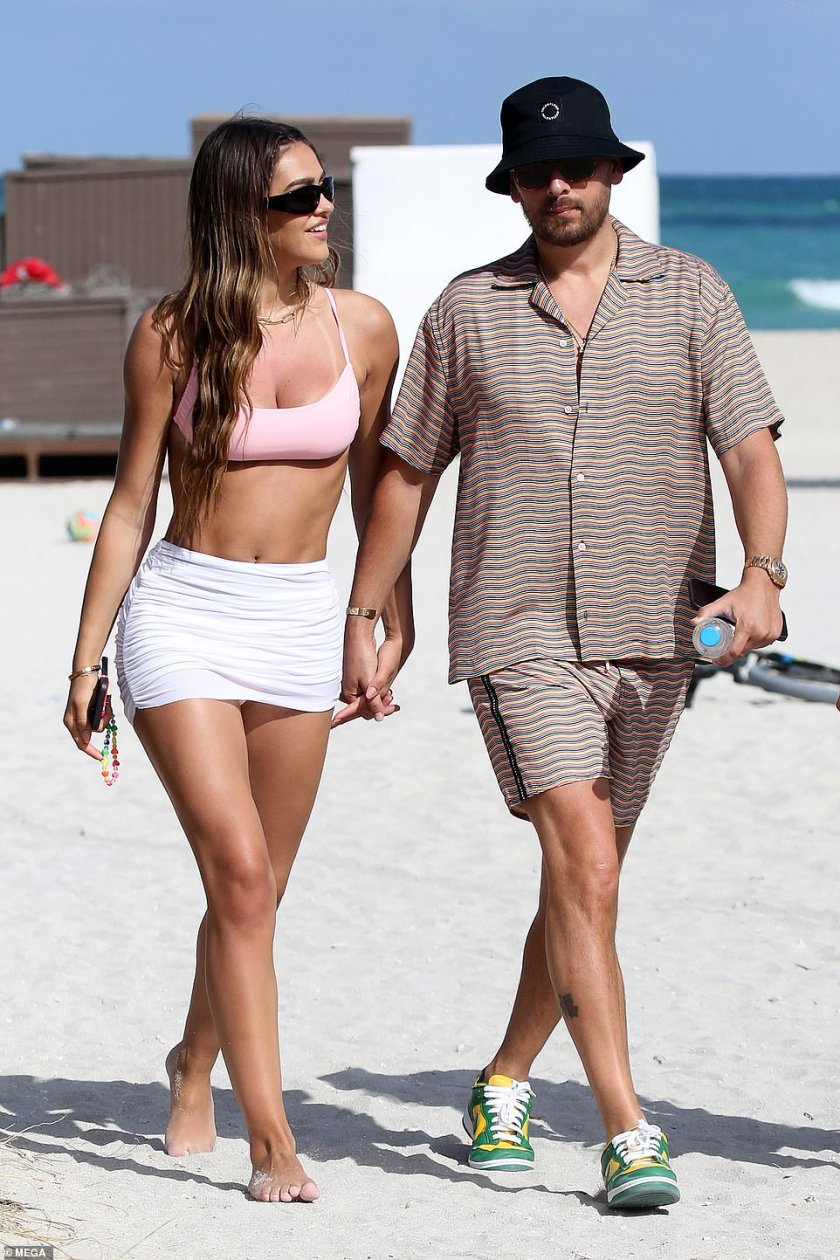 Still going strong! Amelia Gray Hamlin, 19, and her much-older boyfriend Scott Disick, 37, were pictured in Miami over the weekend, proving that their relationship appears to be going from strength to strength