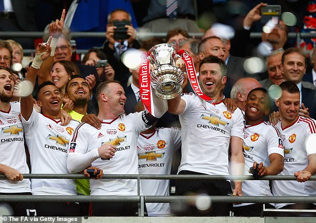 Manchester United equalised two minutes later before going on to beat Palace to lift trophy