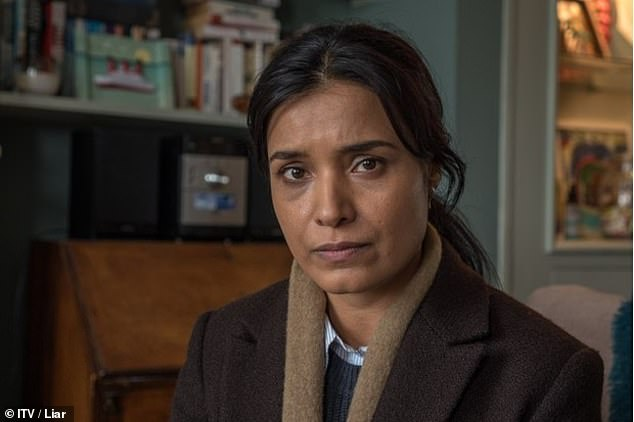 Another family:Shelley, 44, who has been previously seen in Liar as DI Vanessa Harmon (pictured in her role) and The Deceived as Ruth, will play the sisters' mother Mary