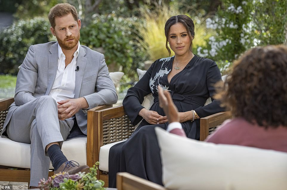 Morgan set off a social media firestorm the day after the Oprah interview on March 7 when he said he 'didn't believe a word' of what Meghan said about experiencing racism within the Royal Family and feeling suicidal when she was pregnant
