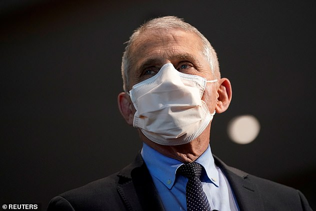 Dr Anthony Fauci warned Monday that people who have only had one dose of Covid vaccines made by Moderna or Pfizer would have only 'tenuous' protection against variants