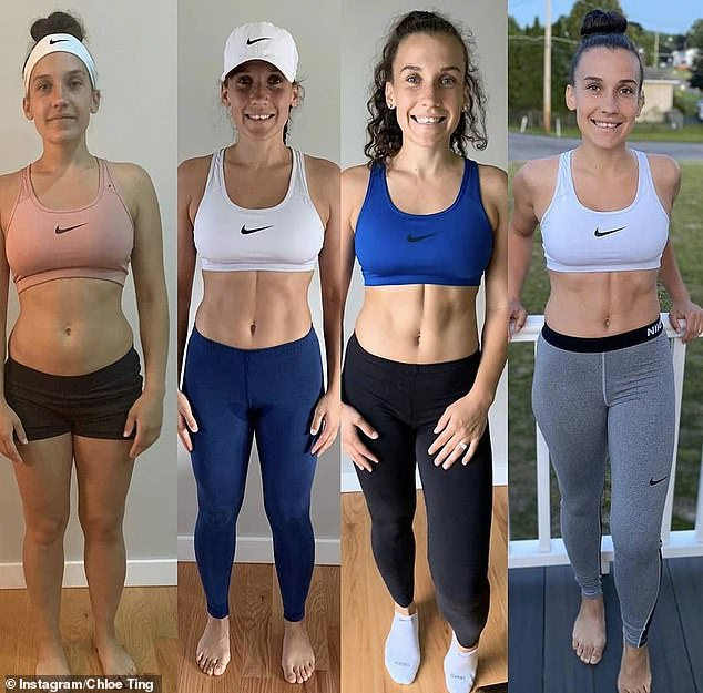 Transformation photos of women who have completed Ms Ting's workout plan show the benefits of the program