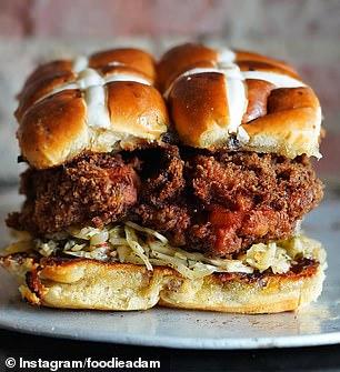 A trend for 'hot cross bun burgers' has been sweeping Instagram and TikTok in recent weeks