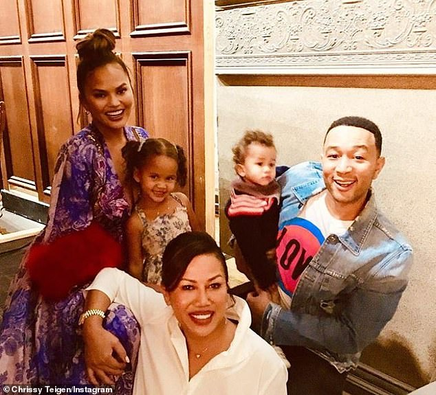 Family:Pepper, who lives in Beverly Hills with her daughter and son-in-law, helps care for the couple's children, daughter Luna, four, and son Miles, two